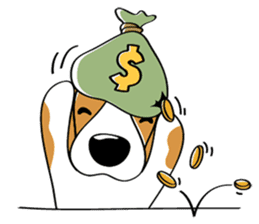 Toffee The Beagle sticker #709816