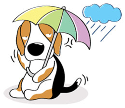 Toffee The Beagle sticker #709822