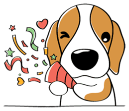 Toffee The Beagle sticker #709823