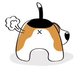 Toffee The Beagle sticker #709826