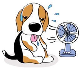 Toffee The Beagle sticker #709827