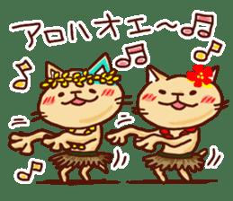 the pad of cat @ hawaii sticker #713107
