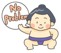 Sumo wrestler (English) sticker #717278