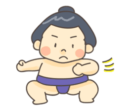 Sumo wrestler (English) sticker #717279