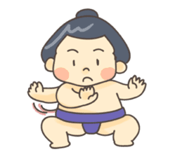 Sumo wrestler (English) sticker #717290