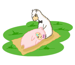 Alpaca Sheep Lover sticker #718115
