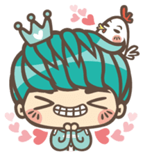 Prince J & His Friend Chicken K sticker #718449