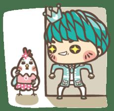 Prince J & His Friend Chicken K sticker #718462