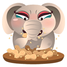Dunbee, the funny and sweet elephant sticker #719594