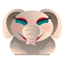 Dunbee, the funny and sweet elephant sticker #719618