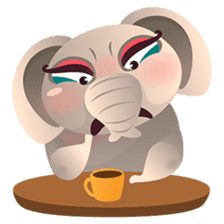 Dunbee, the funny and sweet elephant sticker #719629