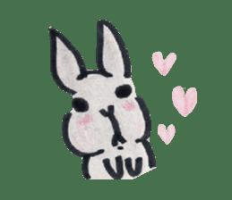MY cute Rabbit sticker #720089