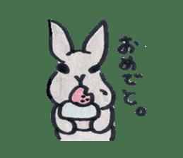 MY cute Rabbit sticker #720099