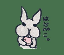 MY cute Rabbit sticker #720106