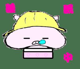 The piglet Lazy life freewheelingly. sticker #720713