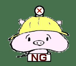 The piglet Lazy life freewheelingly. sticker #720726