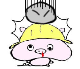 The piglet Lazy life freewheelingly. sticker #720731