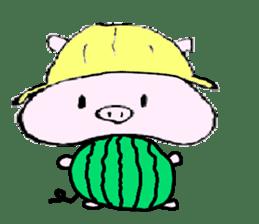 The piglet Lazy life freewheelingly. sticker #720741