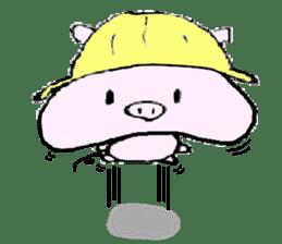 The piglet Lazy life freewheelingly. sticker #720745