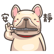 สติ๊กเกอร์ไลน์ French Bulldog-PIGU IV Animated Stickers