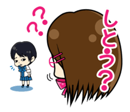 Daily conversation of the  Fukuoka-Girl sticker #722567