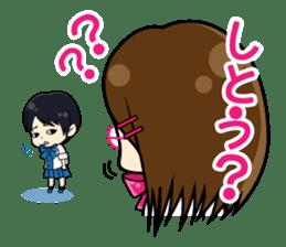 Daily conversation of the  Fukuoka-Girl sticker #722567