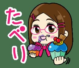 Daily conversation of the  Fukuoka-Girl sticker #722568