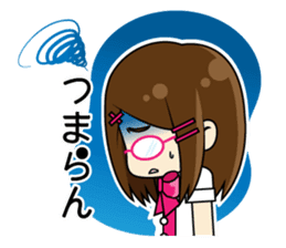 Daily conversation of the  Fukuoka-Girl sticker #722570