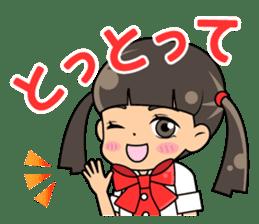 Daily conversation of the  Fukuoka-Girl sticker #722579