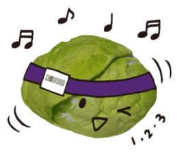 It's a cabbage! sticker #722624