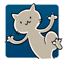 India ink cat sticker #723438