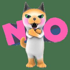 Yasaneko the perverse cats Taroimo Ver. sticker #724080