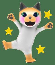 Yasaneko the perverse cats Taroimo Ver. sticker #724084