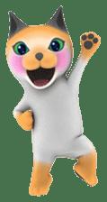 Yasaneko the perverse cats Taroimo Ver. sticker #724090