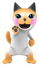 Yasaneko the perverse cats Taroimo Ver. sticker #724091