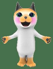 Yasaneko the perverse cats Taroimo Ver. sticker #724093