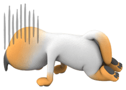 Yasaneko the perverse cats Taroimo Ver. sticker #724095