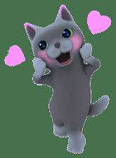 Yasaneko the perverse cats Taroimo Ver. sticker #724104