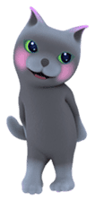 Yasaneko the perverse cats Taroimo Ver. sticker #724107