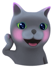 Yasaneko the perverse cats Taroimo Ver. sticker #724111