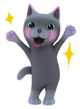 Yasaneko the perverse cats Taroimo Ver. sticker #724112