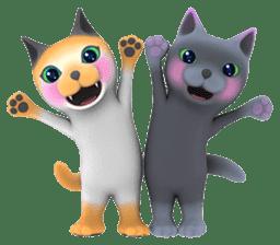 Yasaneko the perverse cats Taroimo Ver. sticker #724114