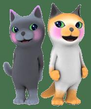 Yasaneko the perverse cats Taroimo Ver. sticker #724117