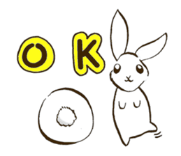 moon's rabbit English sticker #728543
