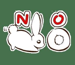 moon's rabbit English sticker #728544