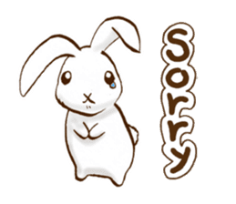 moon's rabbit English sticker #728545