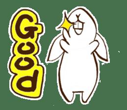 moon's rabbit English sticker #728546