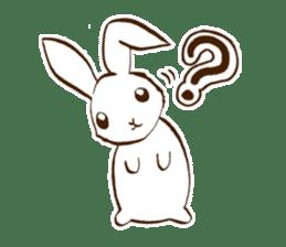moon's rabbit English sticker #728547