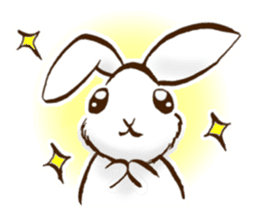moon's rabbit English sticker #728549