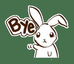 moon's rabbit English sticker #728550